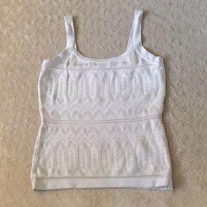 WHBM white/tan Sleeveless Sweater size S